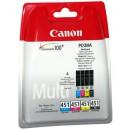 Canon PGI-451Bk/C/M/Y оригинальный струйный картридж не определен, 4-х цветный