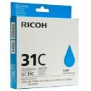 Ricoh 31C оригинальный струйный картридж 1 920 страниц, голубой