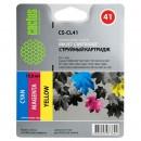 Cactus CS-CL41 совместимый струйный картридж 18 мл., цветной (3-х цветный)