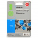 Cactus CS-CLI451C совместимый струйный картридж 9.8 мл., голубой