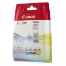 Canon CLI-521 Multipack оригинальный струйный картридж , голубой, жёлтый, пурпурный