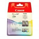 Canon PG-510 CL-511 Multipack оригинальный струйный картридж 220 страниц чёрный , чёрный + цветной