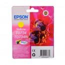 Epson T0734 Yellow оригинальный струйный картридж 250 стр, жёлтый