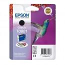 Epson T0801 Black оригинальный струйный картридж 480 страниц, чёрный