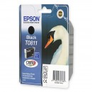 Epson T0811 Black оригинальный струйный картридж 480 страниц, чёрный