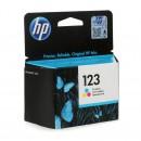 HP F6V16AE (HP 123 Color) оригинальный струйный картридж 100 страниц, цветной