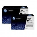 HP CE505AD (HP 05AD) оригинальный лазерный картридж 2*2300 страниц, чёрный