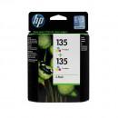 HP CB332HE (HP 135 + 135) оригинальный струйный картридж 2*330 страниц, цветной