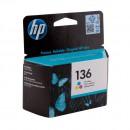 HP C9361HE (HP 136) оригинальный струйный картридж 220 страниц, цветной