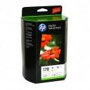 HP SD754HE / CH083HE (HP 178 pack) оригинальный струйный картридж , комплект 3 цветный