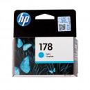 HP CB318HE (HP 178 Cyan) оригинальный струйный картридж 300 страниц, голубой