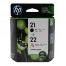 HP SD367AE (HP 21 + 22) оригинальный струйный картридж 190 страниц чёрный, чёрный, цветной