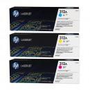 HP CF440AM (HP 312A) оригинальный лазерный картридж 3*2700 страниц, голубой, жёлтый, пурпурный