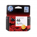 HP CZ638AE (HP 46 Color) оригинальный струйный картридж 750 страниц, цветной