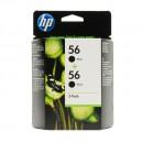 HP C9502AE (HP 56 + 56) оригинальный струйный картридж 2*450 страниц, чёрный