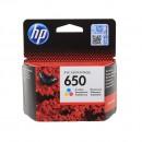 HP CZ102AE (HP 650 Color) оригинальный струйный картридж 200 страниц, цветной