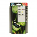 HP C2N93AE (HP 940XL pack) оригинальный струйный картридж чёрный 2200 страниц, чёрный, голубой, жёлтый, пурпурный
