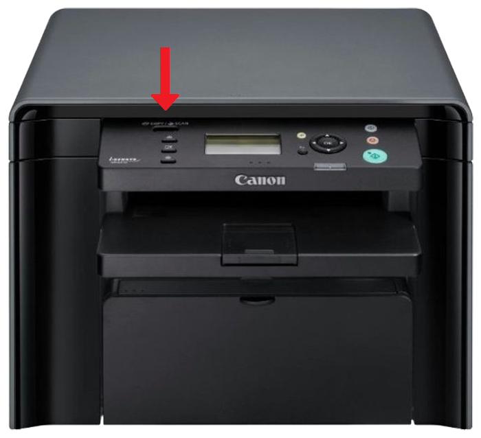 Где Canon размещает название модели на принтере?